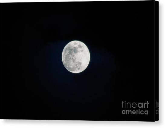 Snow Moon 4 Canvas Print