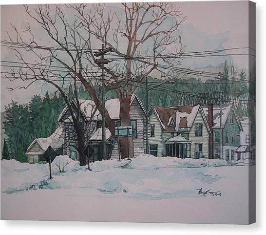 Snow Next Door Canvas Print by Richard Ong