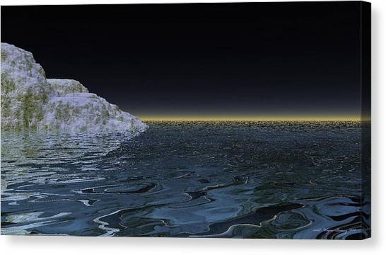 Snow On The Black Sea Canvas Print by Wayne Bonney