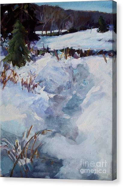 Snow Path Canvas Print