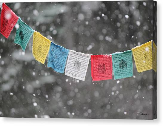 Snow Prayers Canvas Print