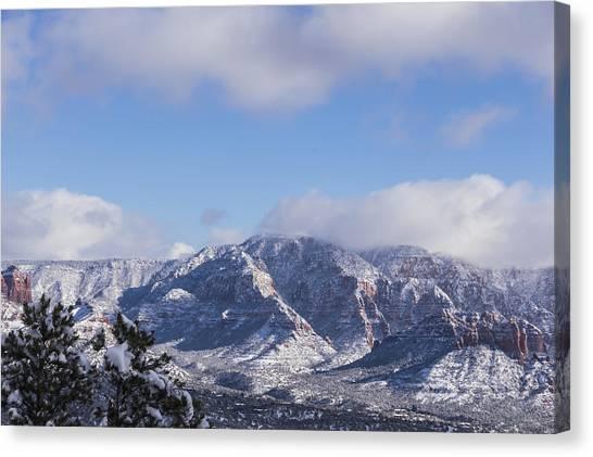 Snow Rim Canvas Print