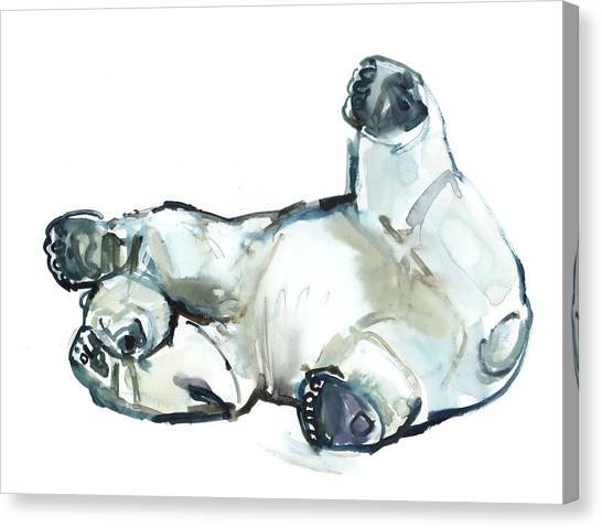 Polar Bears Canvas Print - Snow Rub by Mark Adlington