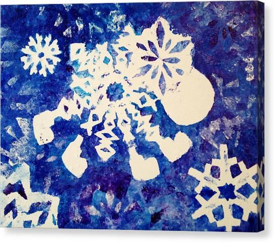 Snow Sheep Canvas Print