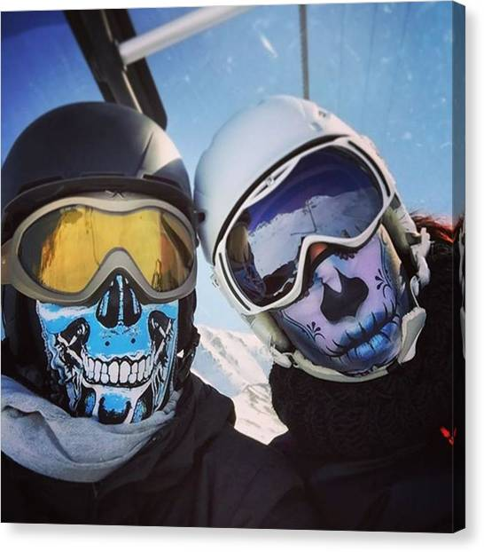 Binders Canvas Print - #snow #ski #snowboard #winter #faces by Alex Binder