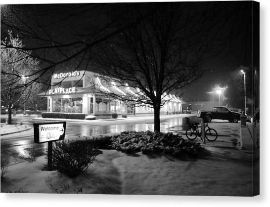 Snow Surprise Canvas Print