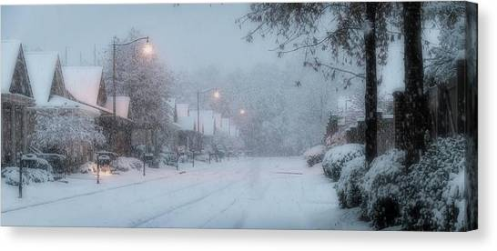 Snow Time Canvas Print
