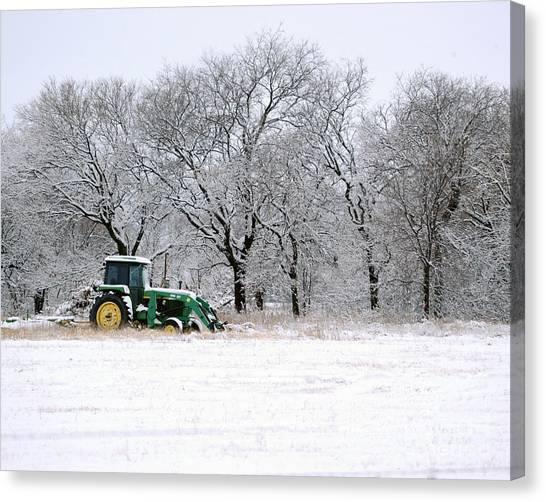 Snow Tractor Canvas Print