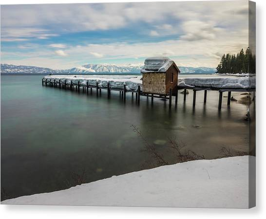 Snow White Pier Canvas Print