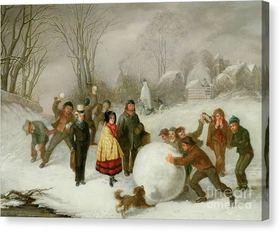 Snowball Canvas Print - Snowballing   by Cornelis Kimmel