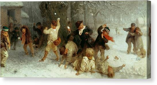 Snowball Canvas Print - Snowballing by John Morgan
