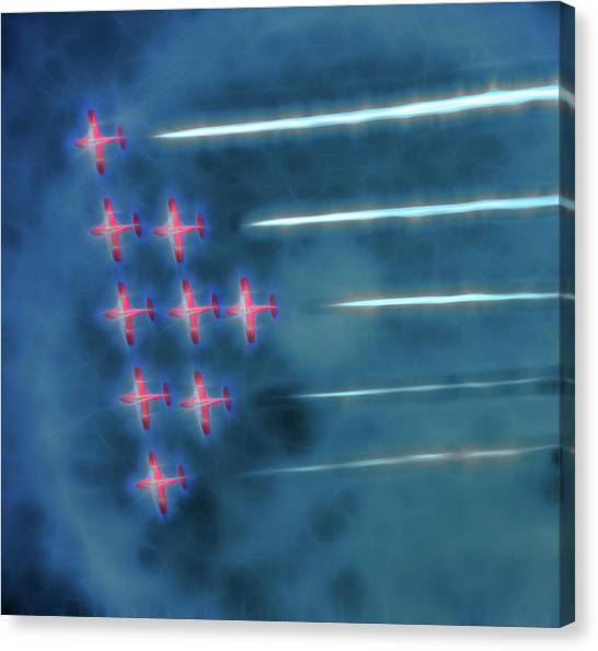Snowbird Formation 1 Canvas Print