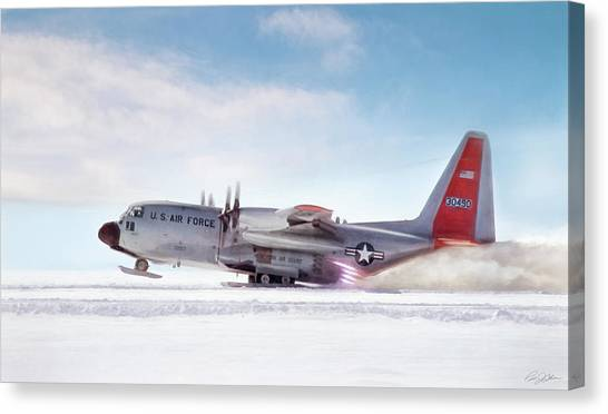 National Guard Canvas Print - Snowbird by Peter Chilelli