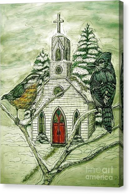 Snowbirds Visit St. Paul Canvas Print