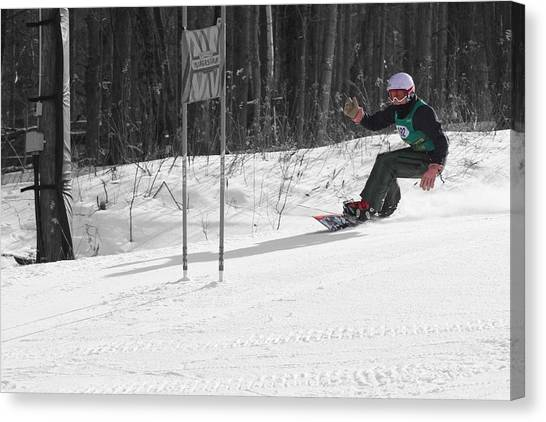 Snowboard Racer Canvas Print