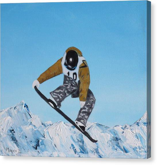 Snowboarder Canvas Print