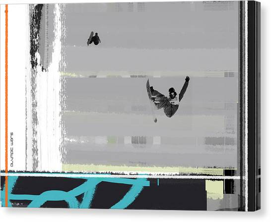 Acrobatic Canvas Print - Snowboarding by Naxart Studio