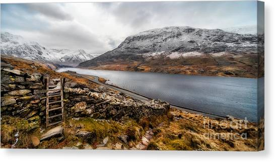 Ogwen Canvas Print - Snowcapped Valley by Adrian Evans