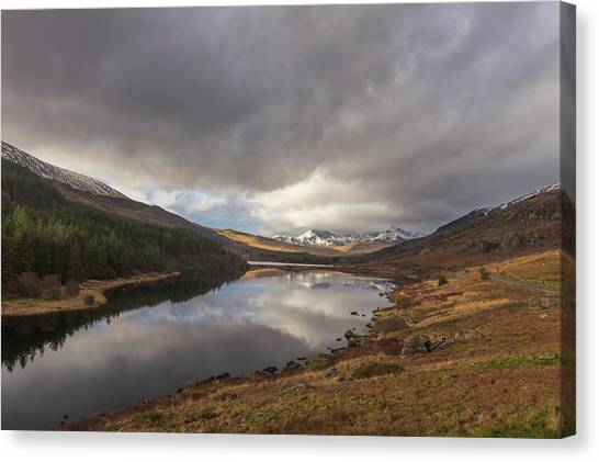 Snowdon Canvas Print - Snowdon Reflection by Chris Fletcher