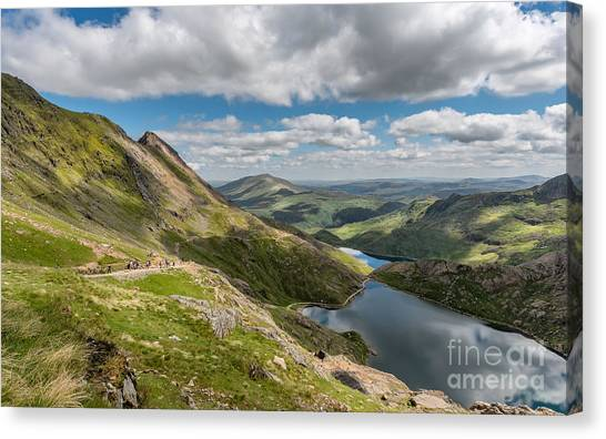 Snowdon Canvas Print - Snowdon Tracks by Adrian Evans
