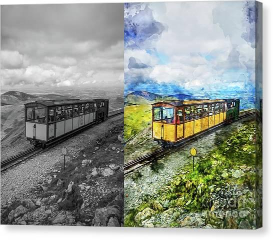 Sightseeing Canvas Print - Snowdon Train by Ian Mitchell