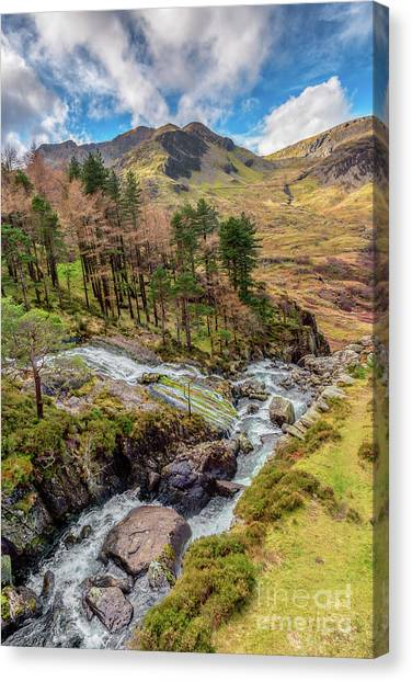 Ogwen Canvas Print - Snowdonia Landscape Winter by Adrian Evans