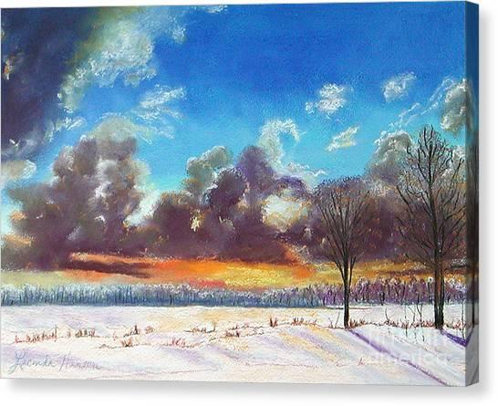 Snowfield IIi Canvas Print by Lucinda  Hansen