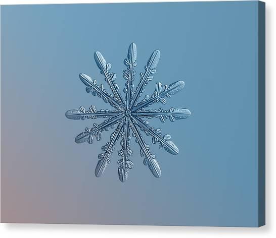 Snowflake Photo - Chrome Canvas Print