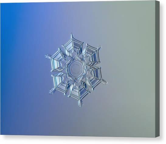 Snowflake Photo - Ice Relief Canvas Print