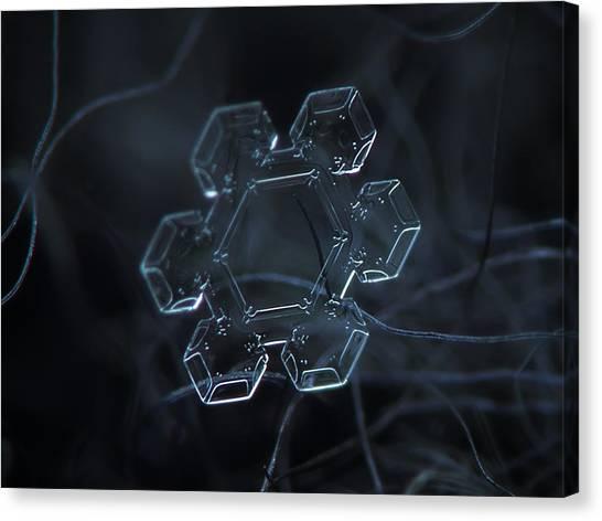 Snowflake Photo - Jewel Canvas Print