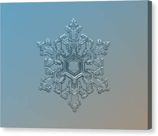 Snowflake Photo - Ornate Pattern Canvas Print