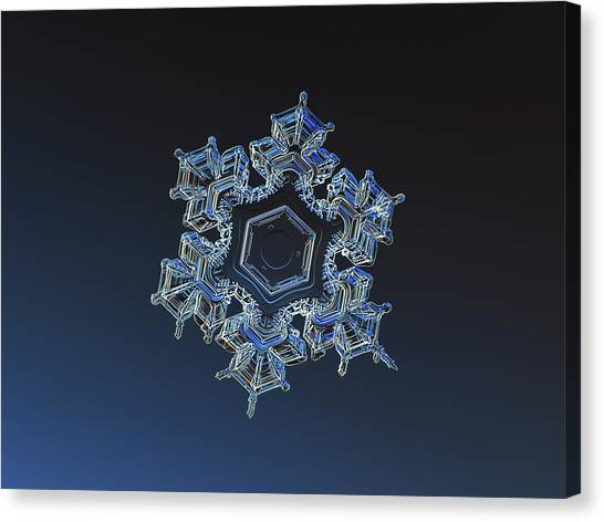 Canvas Print featuring the photograph Snowflake Photo - Spark by Alexey Kljatov
