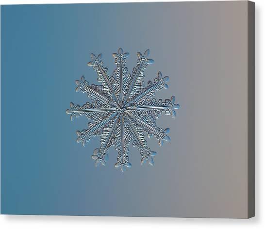Snowflake Photo - Wheel Of Time Canvas Print