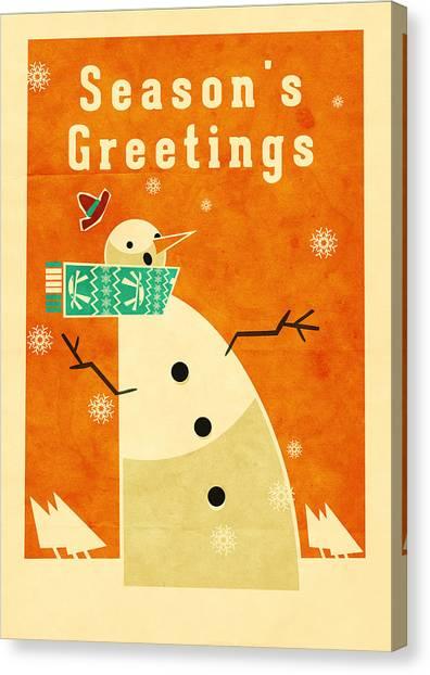 Santa Claus Canvas Print - Snowman 3 by Daviz Industries