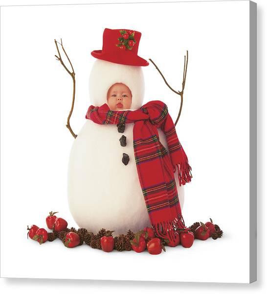 Holidays Canvas Print - Snowman by Anne Geddes