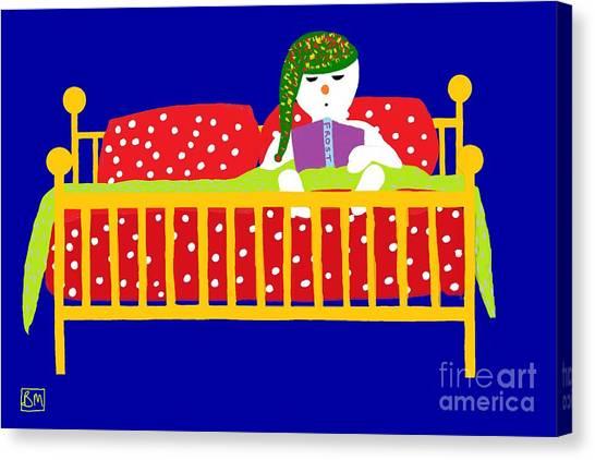 Snowman Bedtime Canvas Print