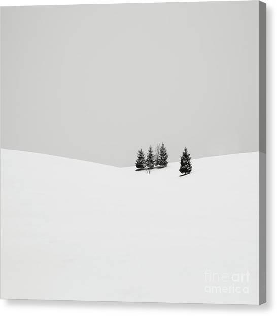 Snow Canvas Print - Snowscapes   Almost There by Ronny Behnert
