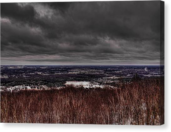 Snowstorm Clouds Over Rib Mountain State Park Canvas Print