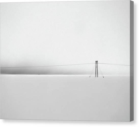 Snowstorm In Iceland Canvas Print by Winnie Chrzanowski