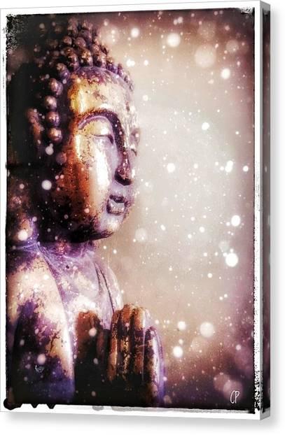 Snowy Buddha Canvas Print