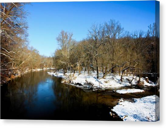Snowy Creek Morning Canvas Print