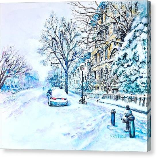 Snowy Day Brooklyn  Canvas Print