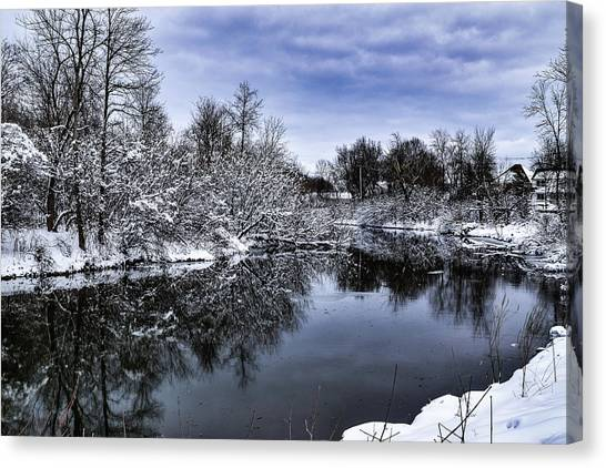 Snowy Ellicott Creek Canvas Print