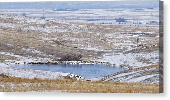 Snowy Hills 1 Canvas Print