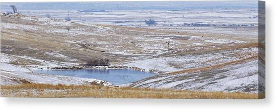 Canvas Print featuring the photograph Snowy Hills 2 by Rob Graham
