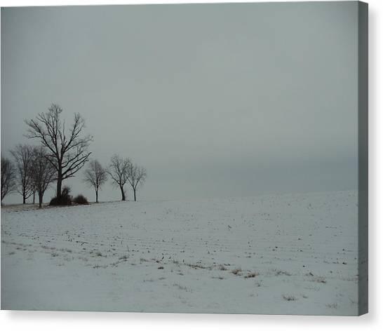 Snowy Illinois Field Canvas Print