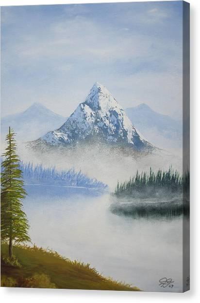 Snowy Landscape Canvas Print by Christian  Hidalgo