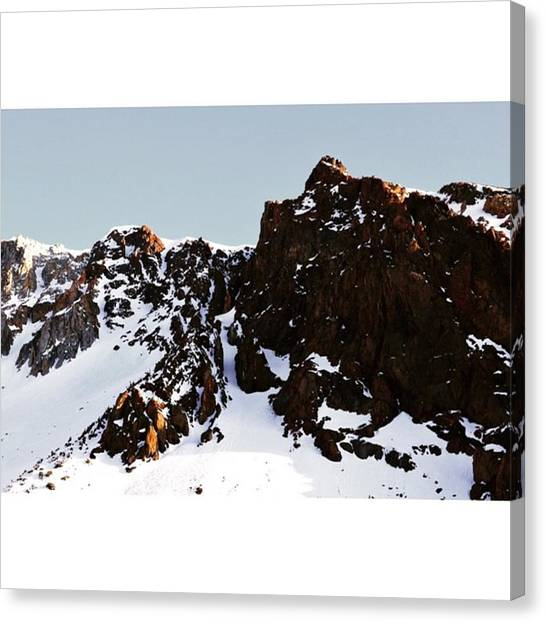 Scotty Canvas Print - Snowy Mountains In Tioga Pass - by Scotty Brown