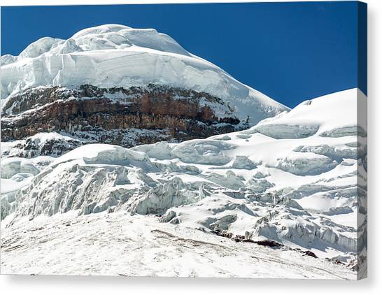 Cotopaxi Canvas Print - Snowy Peak Of Cotopaxi Volcano by Jess Kraft