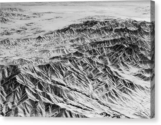 Hindu Kush Canvas Print - Snowy Peaks And Dark Valleys by SR Green